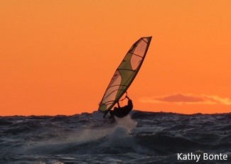 Photo of Kite Boarding by Kathy Bonte