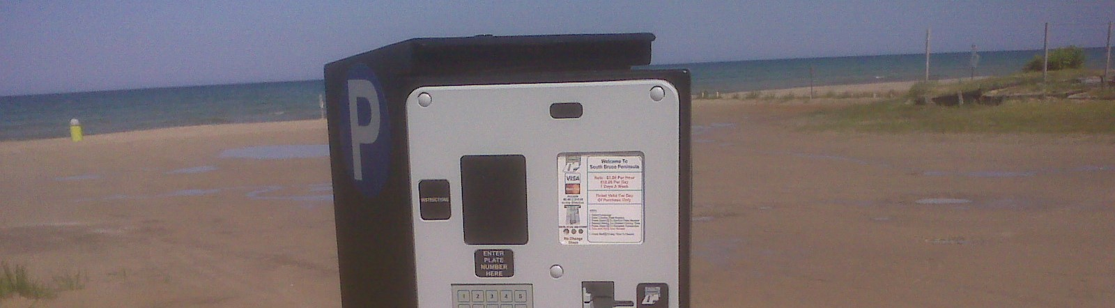Photo of paid parking machine at Sauble Beach